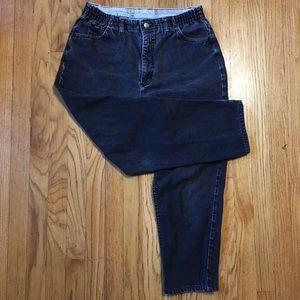 Vintage high rise black Lee denim pants